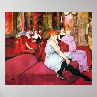 Salón en la ruda de Moulins por Toulouse-Lautrec Impresiones