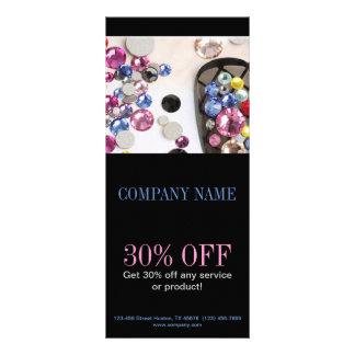 salón femenino moderno del clavo de la joyería de diseños de tarjetas publicitarias