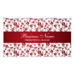 Salon Floral Red Professional Business Card Template