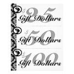 Salon Flyer Spa Gift Certificates Woman Silhouette