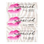 Salon Flyer Spa Lips Pink Zebra Beige