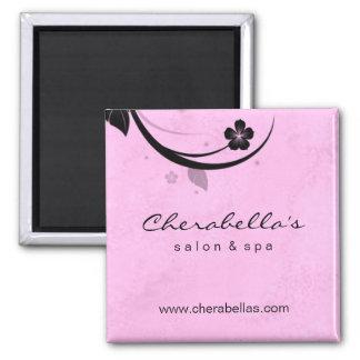 Salon Fridge Magnet Spa floral watery pink