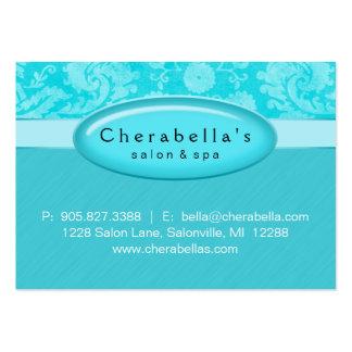 Salon Gift Card Certificate Spa Blue Damask Business Card