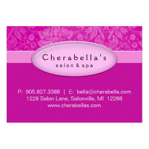 Salon Gift Card Certificate Spa Pink Damask Business Card Templates