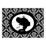 Salon Gift Card Crown Woman Silhouette BW Business Cards