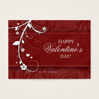 Salon Gift Card Spa Flower Floral Red Hearts