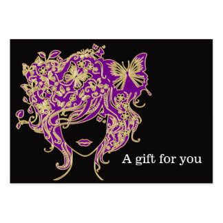 Salon Gift Certificate Large Business Cards (Pack Of 100)