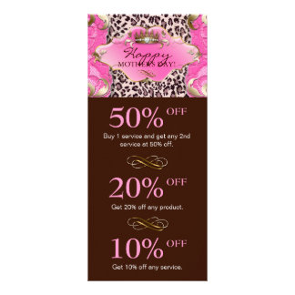 Salon GIFT CERTIFICATE Crown Leopard Pink Brown