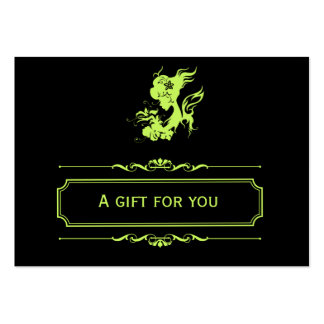 Salon Gift Certificate (Dark Olive Green) Large Business Cards (Pack Of 100)