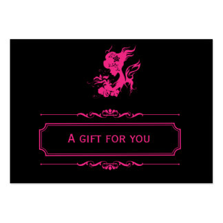 Salon Gift Certificate (Deep Pink) Large Business Cards (Pack Of 100)