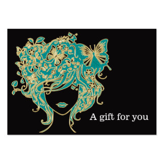 Salon Gift Certificate Large Business Card