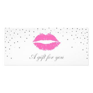Salon Gift Certificate | Pink Lips Silver Confetti