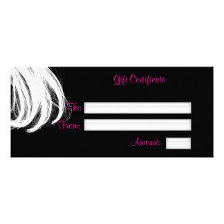 Salon Gift Certificate, Rack Card