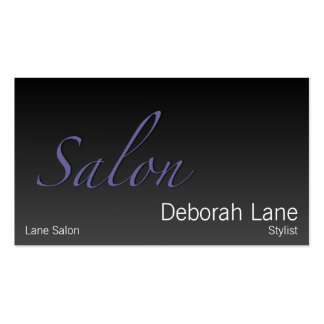 Salon Gradient Dark Double-Sided Standard Business Cards (Pack Of 100)