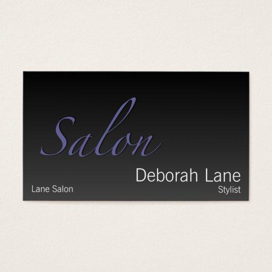 Salon Gradient Dark Business Card