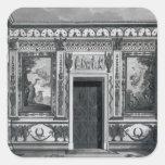 Salón griego, de 'arquitectónico pegatina cuadrada