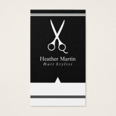 Salon Hair Stylist Appointment Cards in Black
