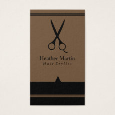 Salon Hair Stylist Appointment Cards in Brown