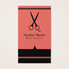 Salon Hair Stylist Appointment Cards in Coral
