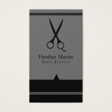 Salon Hair Stylist Appointment Cards in Gray