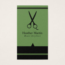 Salon Hair Stylist Appointment Cards in Green