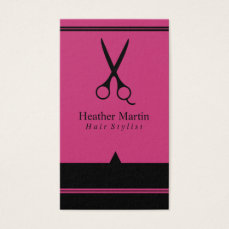 Salon Hair Stylist Appointment Cards in Hot Pink