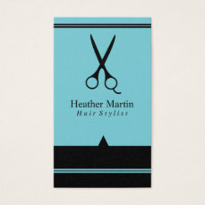 Salon Hair Stylist Appointment Cards in Light Blue
