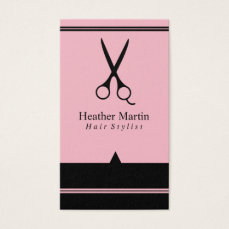 Salon Hair Stylist Appointment Cards in Pink