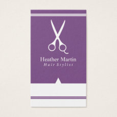 Salon Hair Stylist Appointment Cards in Purple