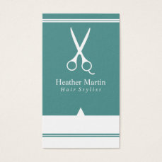 Salon Hair Stylist Appointment Cards in Teal