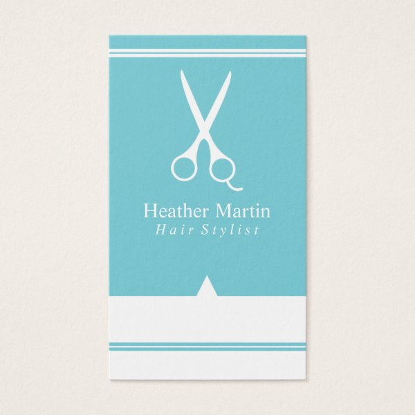Salon Hair Stylist Appointment Cards Tiffany Blue