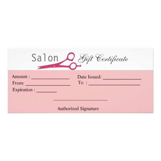 Salon Hair Stylist Cosmetologist Gift Certificate Zazzle Com