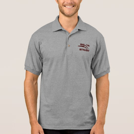 Salon Hair Stylist Designer Scissors Polo Shirt