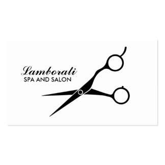 Salon Hair Stylist Hairdresser Professional White Double-Sided Standard Business Cards (Pack Of 100)
