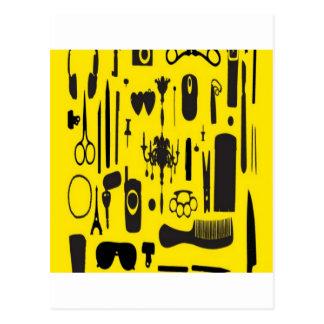 Salon instruments selection design postcard