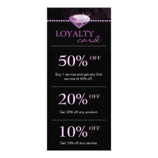 Salon Jewelry Marketing Cards Purple
