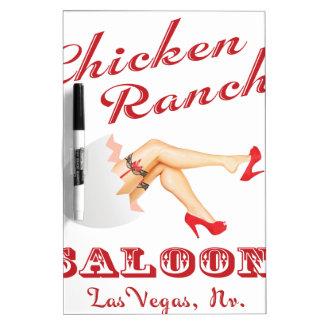 Salón Las Vegas del rancho del pollo Tablero Blanco