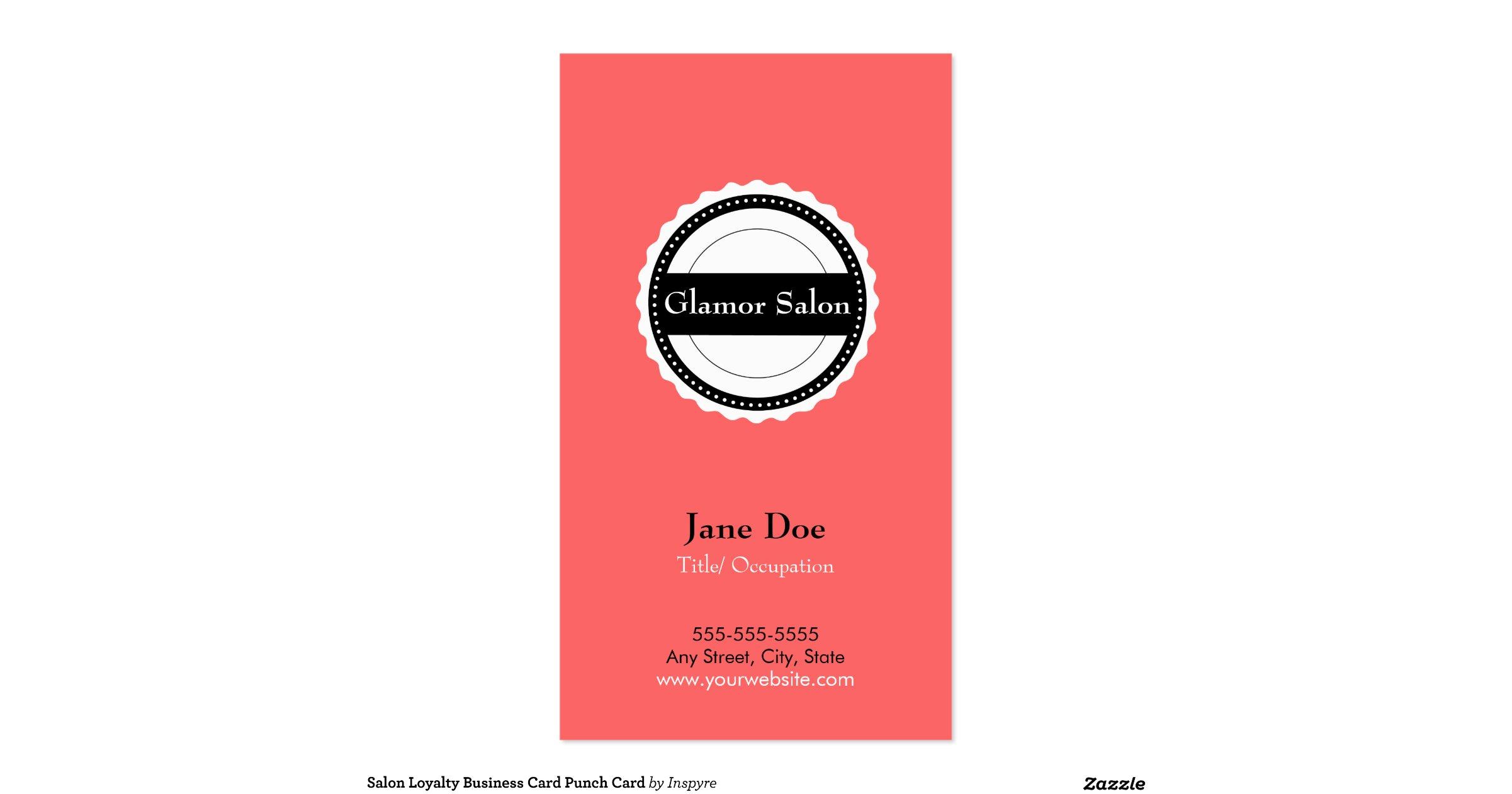 Salonloyaltybusinesscardpunchcard