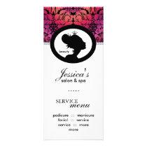 Salon Marketing Cards Crown Damask Floral Makeup
