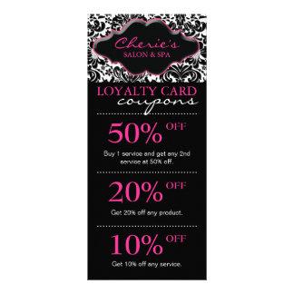 Salon Marketing Cards Damask Pink Floral