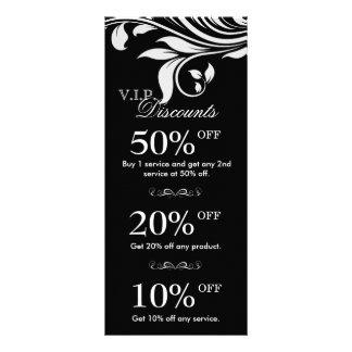 Salon Marketing Cards Elegant Floral Black White 2