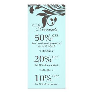 Salon Marketing Cards Elegant Floral Blue Brown