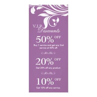Salon Marketing Cards Elegant Floral White Purple