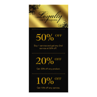 Salon Marketing Cards Gold Floral Butterfly