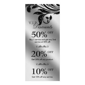 Salon Marketing Cards Jewelry Sparkle Black