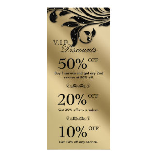 Salon Marketing Cards Jewelry Sparkle Black Gold 3