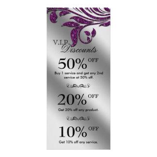 Salon Marketing Cards Jewelry Sparkle Purple