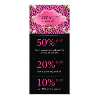 Salon Marketing Cards Leopard Jewelry Crown Pink Custom Rack Card