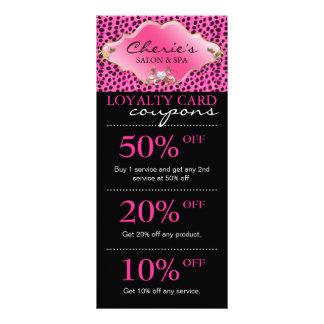 Salon Marketing Cards Leopard Jewelry Pink Gold