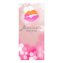 Salon Marketing Cards Makeup Pink Lips & Lights